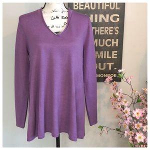 ❤️Gorgeous Lavender J. Jill Merino Wool Sweater❤️